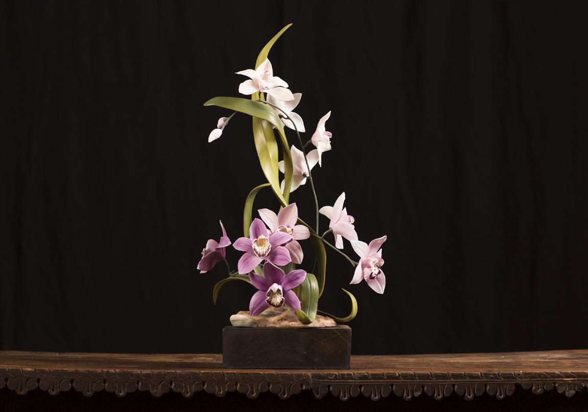 Boehm porcelain orchid centerpiece soca gallery